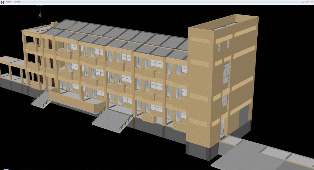 整體檢視-外牆裝修算量完成後,可以檢核3D外牆材質與實際施工完成材料比對